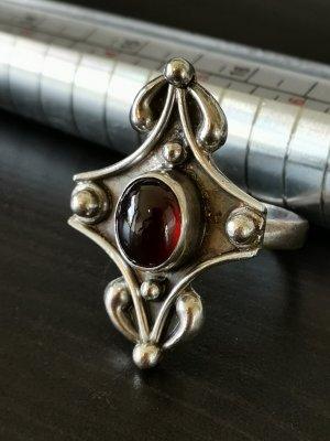 Echtsilber Ring Stein Rot