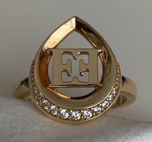 Escada Zilveren ring lichtgrijs Metaal