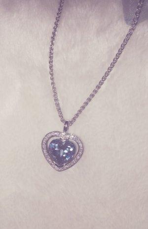 Echtsilberkette mit blauem Herzanhäger
