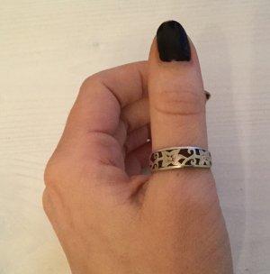 Zilveren ring zilver-bordeaux Zilver