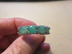 Anello d'argento grigio chiaro-verde chiaro Argento