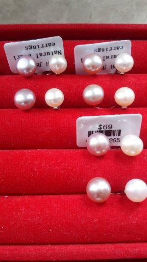 Pearl Earring white-pink metal