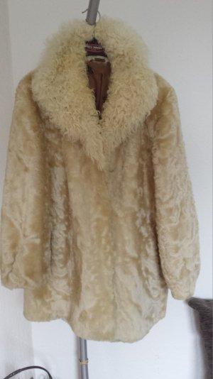 EchtTop Lammfell Jacke Pelzjacke mit Kragen aus Tibetlamm Unikat Swinger seltene Farbe  38,40,42