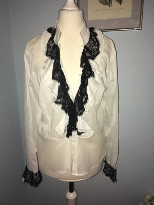 Camisa de manga larga negro-blanco