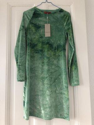 Eckhaus Latta Green grünes Velvet Samtkleid Minidress L Crushed Velvet