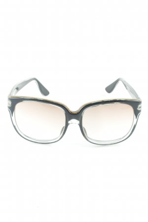 eckige Sonnenbrille dunkelblau-goldfarben klassischer Stil