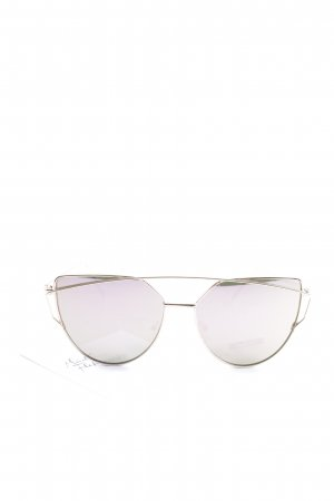 eckige Sonnenbrille goldfarben Casual-Look