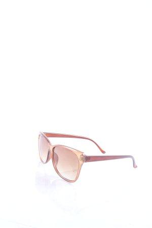 eckige Sonnenbrille hellbraun klassischer Stil