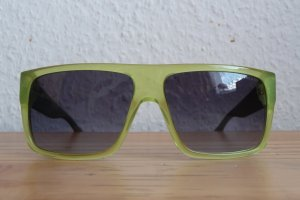 Eckige Sonnenbrille in grün-gelb