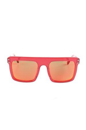 eckige Sonnenbrille rot 90ies-Stil