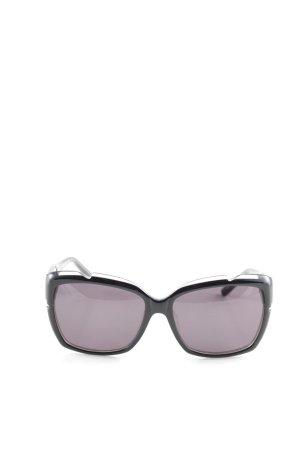Ferre eckige Sonnenbrille schwarz-grau schlichter Stil