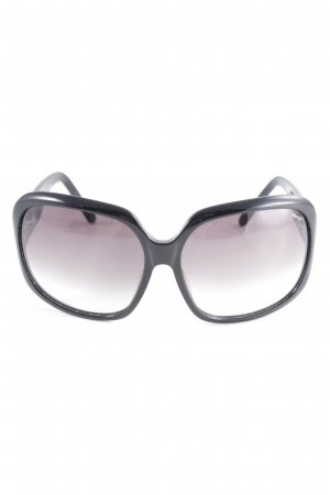 Angular Shaped Sunglasses black-silver-colored casual look