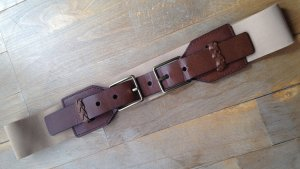 Urban Outfitters Leather Belt brown-oatmeal leather
