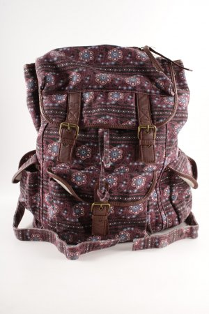 Ecote Schulrucksack florales Muster Casual-Look