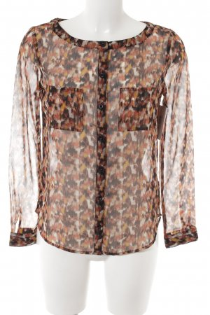 Ecote Transparenz-Bluse Farbtupfermuster Business-Look