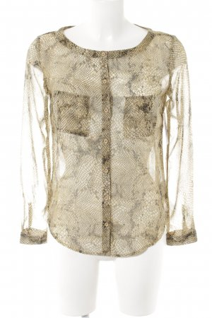 Ecote Transparenz-Bluse Leomuster Casual-Look
