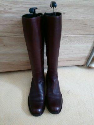 Botas slouch marrón oscuro