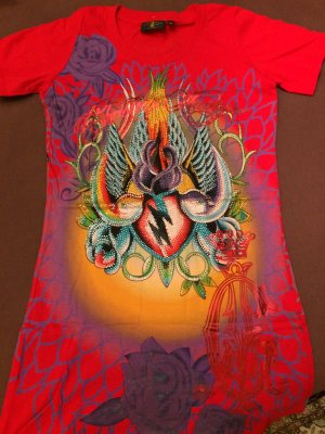 Ed Hardy Print Shirt multicolored cotton