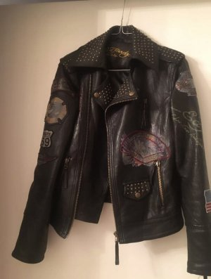 Ed Hardy Bike Lederjacke in S Christian Audiger Limited Edition