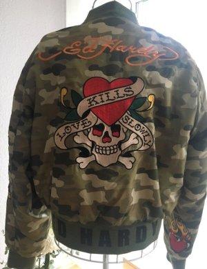 Ed Hardy Bomber Jacke Unisex M Camouflage in Tattoo Art Design