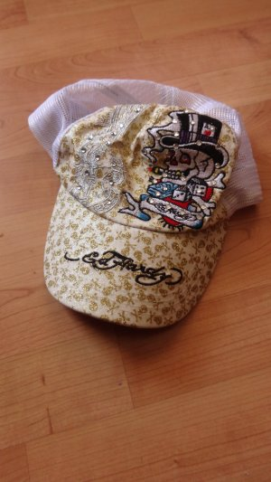 Ed Hardy Baseball Cap white-gold-colored