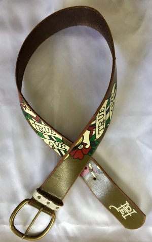 Ed Hardy Leather Belt multicolored