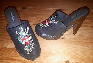 Ed Hardy Heel Clog Pumps