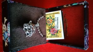 Ed Hardy Necklace silver-colored stainless steel