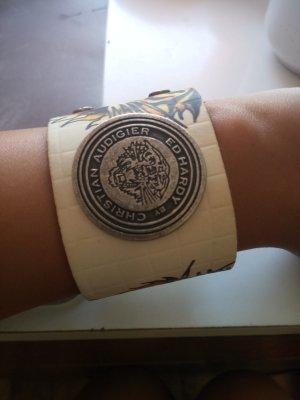 Ed Hardy Leather Bracelet beige