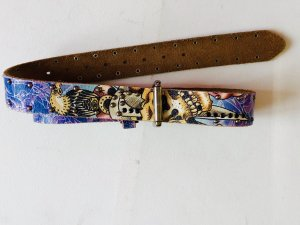 Ed Hardy Leather Belt multicolored