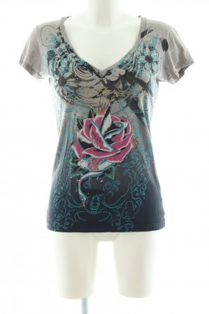 Ed Hardy Print-Shirt Blumenmuster Casual-Look