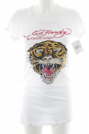 Ed Hardy Print-Shirt Motivdruck Casual-Look