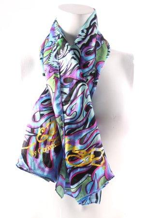 Ed Hardy Seidentuch abstraktes Muster extravaganter Stil