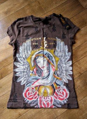 Ed Hardy Shirt gold braun Neu Christian Audigier