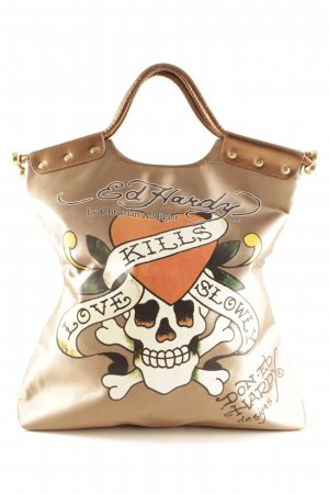 Ed Hardy Stofftasche Monogram-Muster Casual-Look