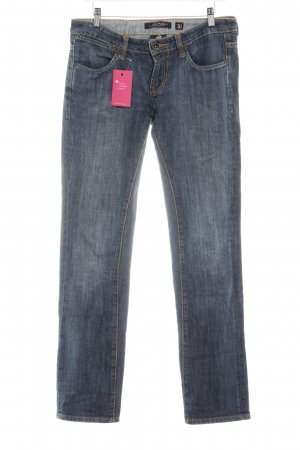 Ed Hardy Straight-Leg Jeans blau Farbverlauf Casual-Look
