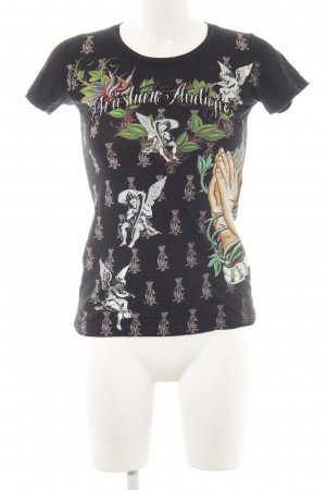 Ed Hardy T-Shirt Allover-Druck extravaganter Stil