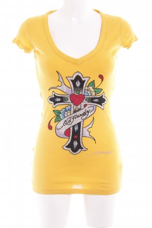 Ed Hardy T-Shirt goldorange Casual-Look