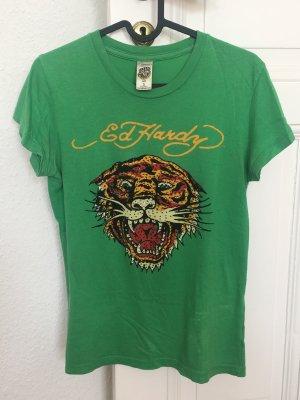 Ed Hardy T-Shirt grün Gr. S