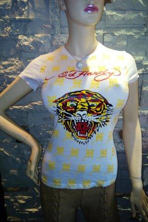 Ed Hardy T-Shirt in gr 40 Farbe Weiss Neuwertig