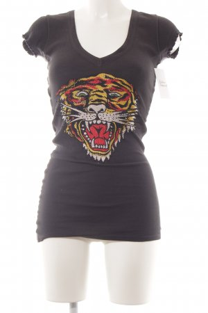 Ed Hardy T-Shirt Motivdruck Animal-Look
