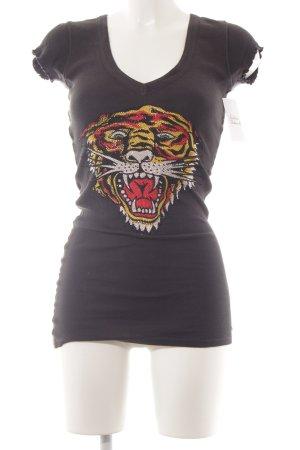 Ed Hardy T-Shirt Motivdruck Animal-Look