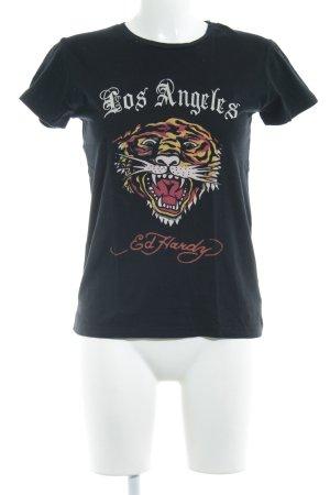 Ed Hardy T-Shirt Schriftzug gedruckt Biker-Look