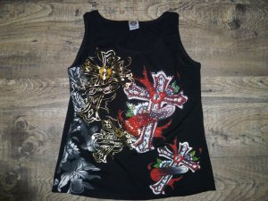 Ed Hardy Top stretch Gr 38 top süß wild