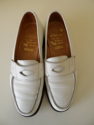 Slippers white leather