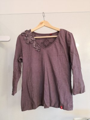edc by Esprit V-Neck Shirt grey lilac