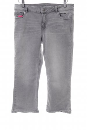 edc 3/4 Length Jeans light grey color gradient casual look