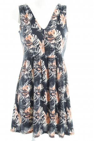 edc A-Linien Kleid abstraktes Muster schlichter Stil