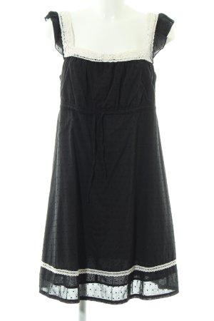 edc A-Linien Kleid schwarz-weiß Casual-Look