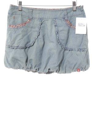 edc Ballonrock blassblau Jeans-Optik